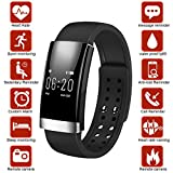 Dreamerd Fitness Tracker, Bluetooth Fitness Wristband / Smart Armband / Herzfrequenz Monitor / Schlaf Monitor / Kalorienzähler / Pedometer Sport Activity Tracker für iPhone iOS und Android Phone