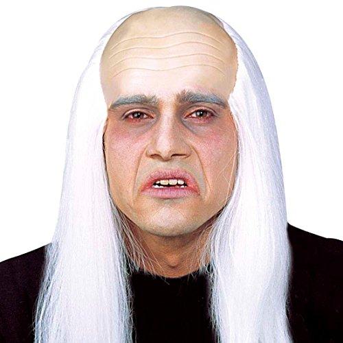 t Haar Halloween Perücke Zombieperücke mit Glatze Halloweenperücke Untoter Fasnet Fasnacht Fasching (Glatze Perücke Mit Haar)