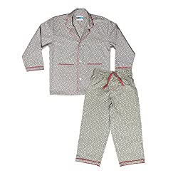 BlueEye Trends Kids Nightwear Boys & Girls Polka Print Cotton Grey 6 - 7 Years