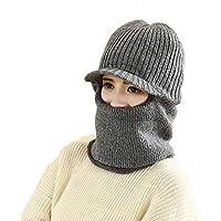 Inverno Donna Uomo Maglia Berretti Cappello in pile Thermal Crochet Cappelli  Scaldacollo Double-Deck Skull 48341ebeb81d