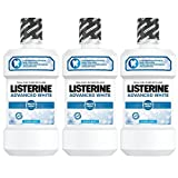 Listerine Advanced White Mundspülung (mit Whitening-Effek, für gesunde Zähne) 3er Pack (3 x 500 ml)