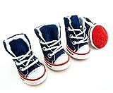 smalllee Lucky Store Scarpe da corsa per piccoli cani e gatti, Casual Jeans Canvas