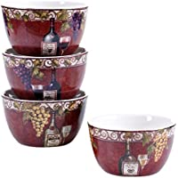 Certified International 57453SET/4 Wine Tasting Ice Cream Bowls (Set of