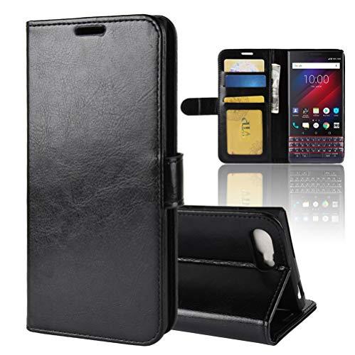 BlackBerry key 2 le Hülle,BlackBerry key 2 le Lederhülle,Handyhülle im Brieftasche-Stil für BlackBerry key 2 le.Schutzhülle mit [TPU Innenschale] [Standfunktion] [Kartenfach] [Magnetverschluss]