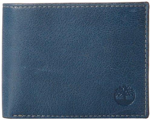 Timberland Herren Geldbörse Leder mit aufgesetzter Klapptasche - Blau - Einheitsgröße -