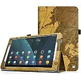 "Huawei MediaPad T1 10.0(9.6"") Tablet Funda - Fintie Folio Soporte Funda Case para Huawei MediaPad T1 10.0(9.6"") Android Tablet, Mapa Cafe"