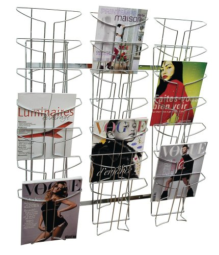 Best Price Alba A4 Wall Mounted 7 Tier 21 Pocket Literature Holder – Chrome Review