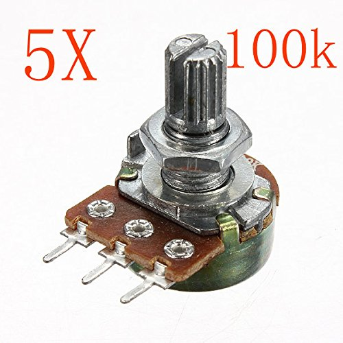Bluelover 200V 0,2 W 100 K Ohm Potentiometer Single Linear