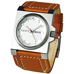 Levi's Gents Brown Leather Strap with Silver Dial Watch