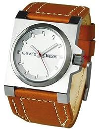 Levis L002GUCWRM - Reloj analógico de caballero de cuarzo con correa de piel marrón - sumergible a 30 metros