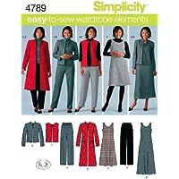 Simplicity 4789 - Patrones de costura para hacer ropa de mujer (talla BB 20W-28W; 46-54 EU/ 48-56 FR)