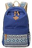 Greeniris Mädchen Segeltuch Rucksack Damen Vintage Schulrucksack für Damen