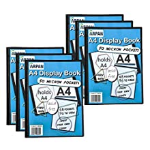 Display Book - 24 Pockets Black Presentation A4 Display Book Folder Folio for Professionals, Business, Students, Projects, School, College & Personal use by Arpan
