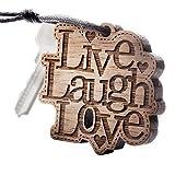 ZUNTO liebe leben lachen Haken Selbstklebend Bad und Küche Handtuchhalter Kleiderhaken Ohne Bohren 4 Stück