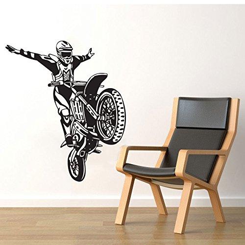 nkfrjz Fahrrad-Motorrad-Motocross-Wand-Ausgangsraum-Dekor-Vinyl wandaufkleber