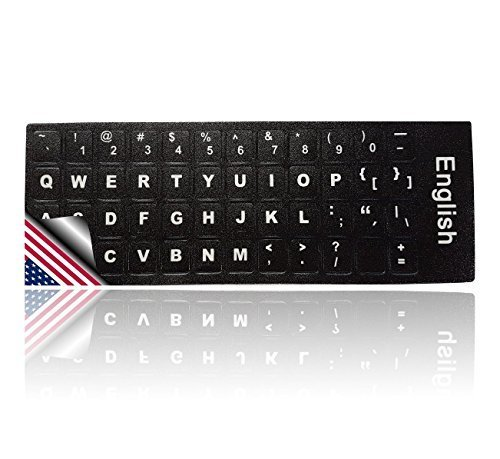 LEDELI Tastaturaufkleber Tastatur Aufkleber Keyboard Sticker Tastatur-Aufkleber für PC, Laptop, Notebook, Computer-Tastaturen (QWERTY US English Layout)