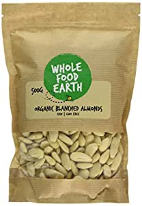 Wholefood Earth Organic Blanched Almonds, 500 g