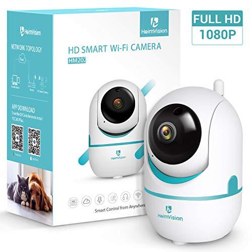 heimvision Caméra Surveillance WiFi 1080p HD Système de Sécurité Caméra IP Intérieur Grand Angle 360° WiFi Alerte de détection de Mouvement la Carte SD jusqu'à 128G
