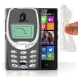 Stuff4® Gel TPU Hülle/Hülle für Nokia X2 Dual SIM/Graues Nokia 3310 Muster/Vintage Handys Kollektion