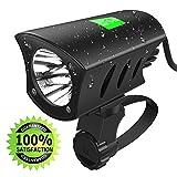 SUNDOKI Bike Front Light W Waterproof 1000 Lumens Rechargeable 8800mAh Batteries