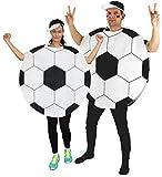 Foxxeo Fußball Kostüm für Damen und Herren für Vereine Fasching Karneval und Junggesellenabschied Größe L