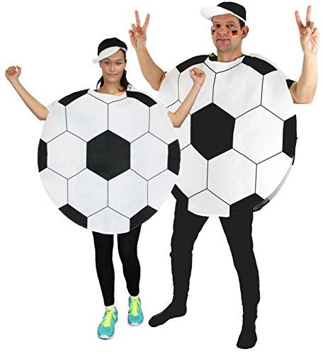 Foxxeo Fußball Kostüm für Damen und Herren für Vereine Fasching Karneval und Junggesellenabschied Größe XL