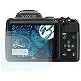 Bruni Pellicola Protettiva per Nikon Coolpix L120 Pellicola Proteggi - 2 x cristallino Protezione Pellicola dello Schermo