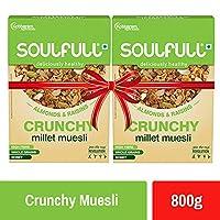 Soulfull Millet Muesli Crunchy Super Saver Pack, Contains Almonds & Raisins, 800g