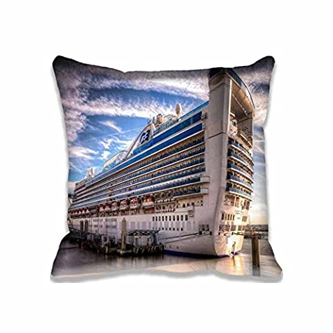 Unique Home Decorative Throw Pillow case/Taies d'oreillers Durable Cushion Cover Travel/Other Caribbean Princess Liner