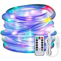 Led luces de cuerda, Afufu 10M String Lights con alimentación USB, 100 luces del tubo del LED al aire libre con 8 modos, IP65 impermeable, decoraciones de la Navidad
