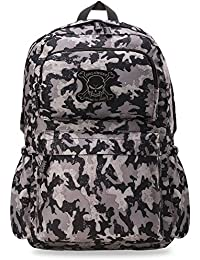 Military - Herren – Rucksack – jugendliche Tasche Kampf - Rucksack Army Camouflage Totenkopf