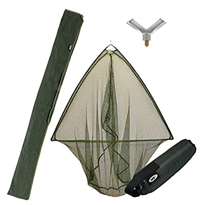 "42"" Carp Pike Fishing Landing Net With Float & Metal Block + Stink Bag Ngt from NGT"