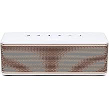 RIVA Audio S - Altavoz portátil (Bluetooth, 30W, IPX4, estéreo) blanco y dorado