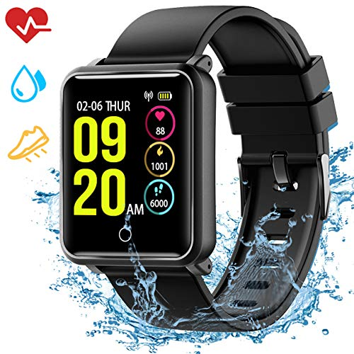 Smartwatch IP68, Reloj Inteligente Hombre con 8 Modos Deporte, Reloj Deportivo, Monitor de sueño, Pulsómetro, Podómetro, Caloría, Notificación Llamada y Mensaje, Cámara Remoto para Andriod y iOS
