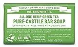 Dr Bronner's Organic Green Tea Soap Bar, 140 g by Dr Bronner