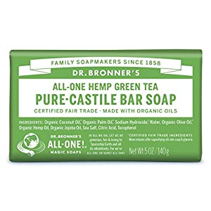 Dr Bronner 140 g Grean tè biologico Soap Bar