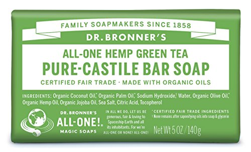 Dr Bronner - savon au thé vert 140g