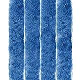 Arsvita - Tenda in Pile, Poliestere, Unistreifen Blau, 140x220 cm