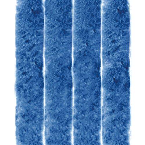 Arsvita Flausch-Vorhang, viele Variationen, Größe: 90x200 cm, Farbe: blau
