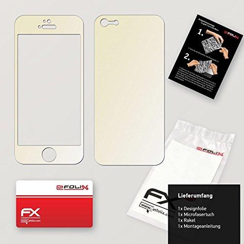 "Skin Apple iPhone 5 ""FX-Camouflage-Black"" Sticker Autocollant FX-Variochrome-Champagne"