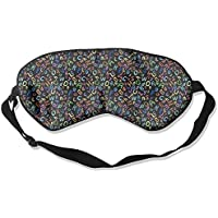 Black Letters Digital Natural Silk Sleep Mask Comfortable Smooth Blindfold for Travel, Relax preisvergleich bei billige-tabletten.eu