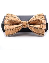 KOOWI La Corbata de Madera Hecha a Mano del Lazo de Madera de Los Hombres Creativos Handcrafted para la Boda o el Desgaste Diario
