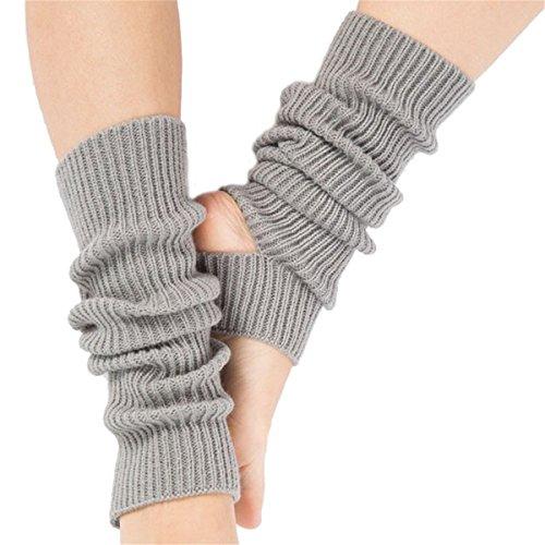 Affe Damen/Mädchen Yoga Socken Beinwärmer Knit Gamaschen Gestrickte Socken für Tanz,Pilates,Fitness(Grau) -