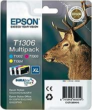 Epson Multipack T1306 3 colores - Cartucho de tinta para impresoras (Cian, Magenta, Amarillo, 30,3 ml, Stylus Office BX625FWD, Stylus SX525WD, Stylus Office BX525WD, Stylus Office BX320FW, Stylus SX620FW) Si