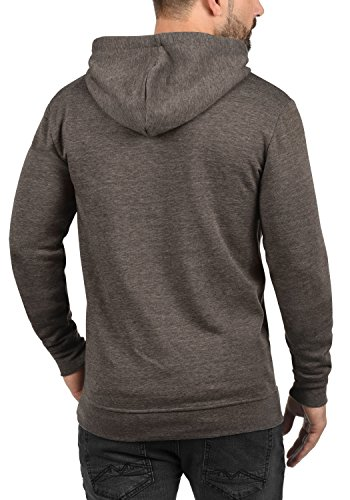 SOLID Olli Herren Sweatjacke Kapuzen-Jacke Zip-Hoodie aus hochwertiger Baumwollmischung, Größe:M, Farbe:Coffee Bean Melange (8973) - 3