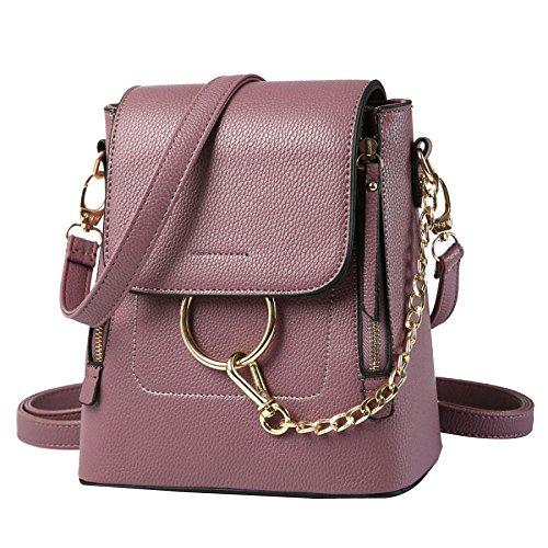 KYOIYRO Frau Rucksack 2017 Chain Fashion Reißverschluss Schnalle Multi-Funktions-Portable Umhängetasche,Purple-AllCode (Multi-schnalle Womens)
