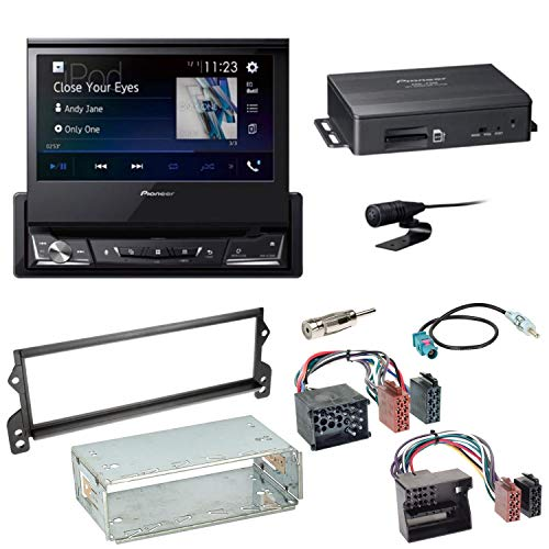Pioneer NAVGATE71BT Bluetooth Navi CD DVD USB Navigation Touchscreen Autoradio Einbauset für Mini R50 R52 R53 (Navigation Cooper Mini Dvd)