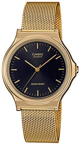 CASIO Unisex Erwachsene Analog Quarz Uhr mit Edelstahl Armband MQ-24MG-1EEF - Gold Casio Frauen Uhren