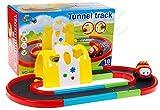 BSD Rennstrecke mit Auto und magischen Tunnel - Renntrack für Autos - Rennbahn Autos - Autorennbahn - Rennbahn für Kleinkind - Kleinkindspielzeug