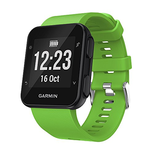 gosuper-newest-soft-silicone-sport-replacement-strap-for-garmin-forerunner-35